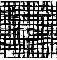 Hand drawn grunge ink grid seamless pattern vector