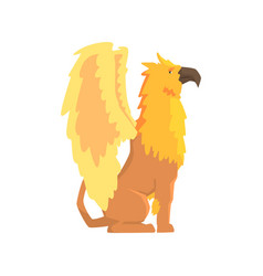 Legendary griffin monster mythical and fantastic vector