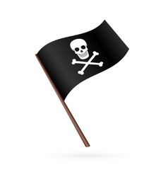 Pirate flag icon vector