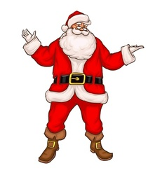 Santa claus in christmas suit vector