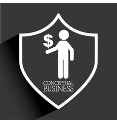 Conceptual business vector