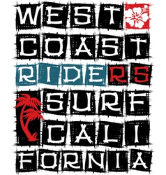 West coast surf riders vector