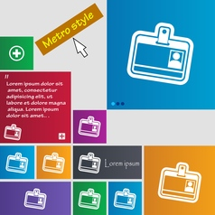 Id card icon sign buttons modern interface website vector