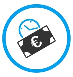 Euro recurring payment rounded icon vector