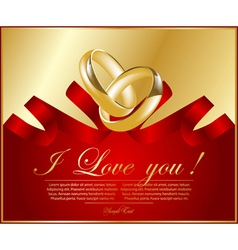 abstract frame with wedding rings vector image vector image