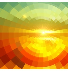 Abstract shining circle tunnel background vector image