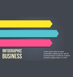 Arrow design element for business infographic vector