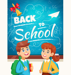 Back to school background poster vector