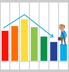 bad bar chart vector image vector image