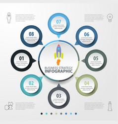 Basic business infographics design template vector