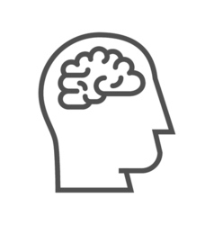 Brainstorm line icon vector