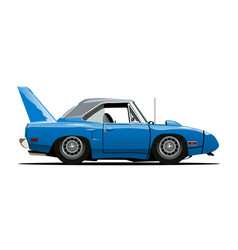 cartoon retro car vector image vector image