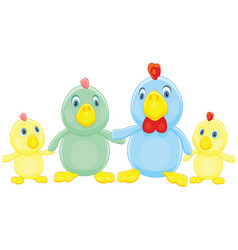 Chicken family vector