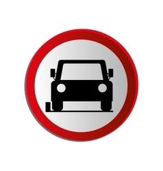 Circular contour road sign of car parking area vector