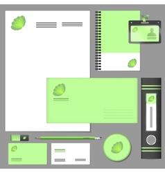Corporate identity elements mockup vector