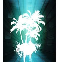 grunge tree vector image
