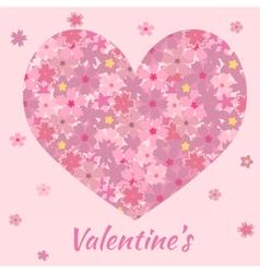 heartsakura vector image