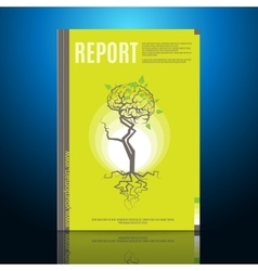 Modern brochure annual report design template vector