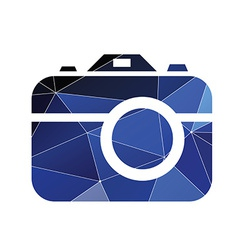 Photo camera icon abstract triangle vector
