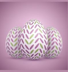 photorealistic easter egg set vector image