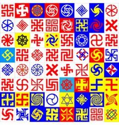 Runes occult symbols vector