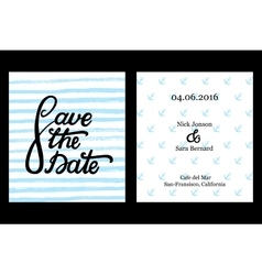 Save the date invitation card design vector image vector image