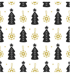 scandinavian christmas nordic seamless pattern vector image vector image