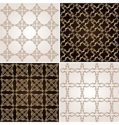 seamless vintage background wallpaper set vector image