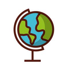 shadow world map cartoon vector image vector image