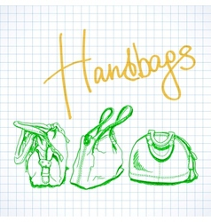 sketch handbags vector image