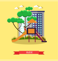 slide concept in flat style vector image
