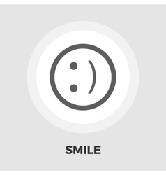 Smile icon flat vector image vector image