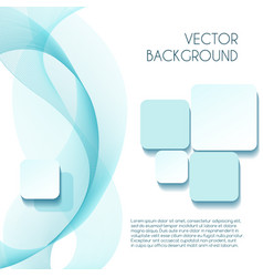 Smoky wave abstract background for brochure vector
