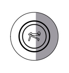 sticker of monochrome contour pictogram with vector image