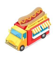 Street fast food isometric vector