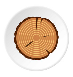 stump icon circle vector image vector image