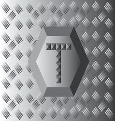 T text aluminium wallpaper vector