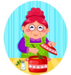 grandmas cooking vector image