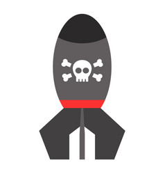 missile rocket icon cartoon vector image