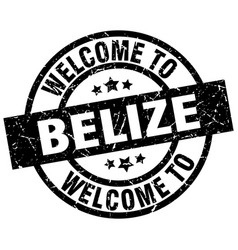 Welcome to belize black stamp vector