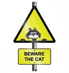 beware the cat vector image