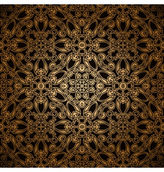 Gold lace pattern vector