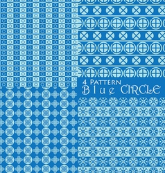 4 pattern blue circle vector image