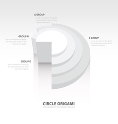 Business infographics circle origami style white vector