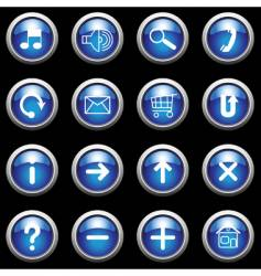 Blue buttons vector