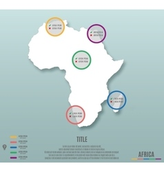 Africa continent template for infographics vector