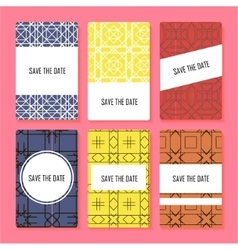 Set of perfect card templates vector