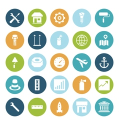 icons plain circle industrial vector image