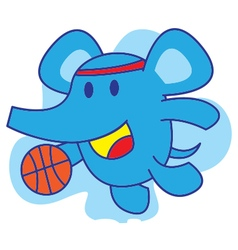 Elephant basketball vector