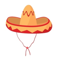 Sombrero icon cartoon style vector
